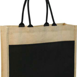 Contrast Eco Jute Bag