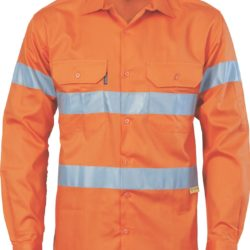 DNC Hi-Vis 190gsm Drill Shirt with 3M R/Tape