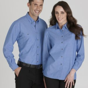 Wrinkle Free Chambray Business Shirt