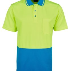 6hvnc-hi-vis-non-cuff-traditional-polo-lime-aqua