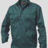 k04020_kinggee-closed-front-drill-ls-shirt-green