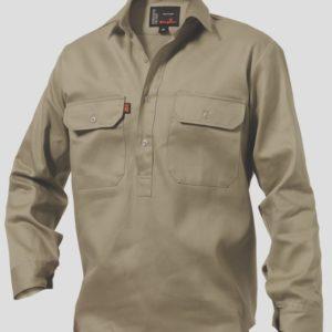k04020_kinggee-closed-front-drill-ls-shirt-khaki