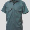 k04030-kinggee-open-front-drill-ss-shirt-green