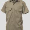 k04030-kinggee-open-front-drill-ss-shirt-khaki