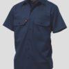 k04030-kinggee-open-front-drill-ss-shirt-navy