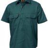 k04060-kinggee-closed-front-drill-ss-shirt-green