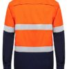k54025-kinggee-vented-spliced-drill-ls-shirt-with-tape-orange-navy-back