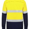 k54025-kinggee-vented-spliced-drill-ls-shirt-with-tape-yellow-navy-back