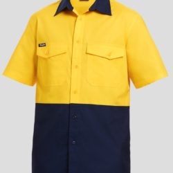 k54875-kinggee-workcool-2-spliced-ss-shirt-yellow-navy