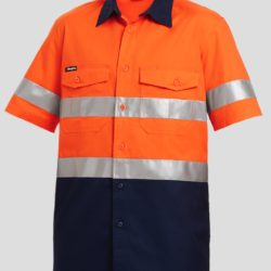k54885-kinggee-workcool-2-reflective-spliced-ss-shirt-orange-navy