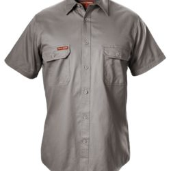 y07510-hard-yakka-foundations-cotton-drill-ss-shirt-grey-front
