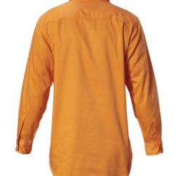 y07530-hard-yakka-foundations-cotton-drill-closed-front-ls-shirt-safety-orange-back
