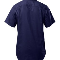 y07540-hard-yakka-foundations-cotton-drill-closed-front-ss-shirt-navy-back