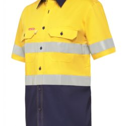 y07735-hard-yakka-koolgear-ventilated-hi-vis-ss-shirt-with-tape-yellow-navy-front