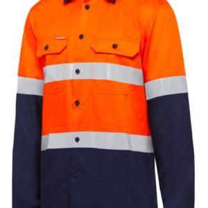 y07940-hard-yakka-2-tone-taped-vented-ls-shirt-orange-navy-front