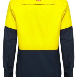 y07950-hard-yakka-2-tone-vented-ls-shirt-yellow-navy-back