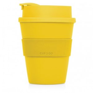 M254 Cup 2 Go 356ml Flip-Top Cup yellow