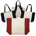 Calico Zip Shopper Bag