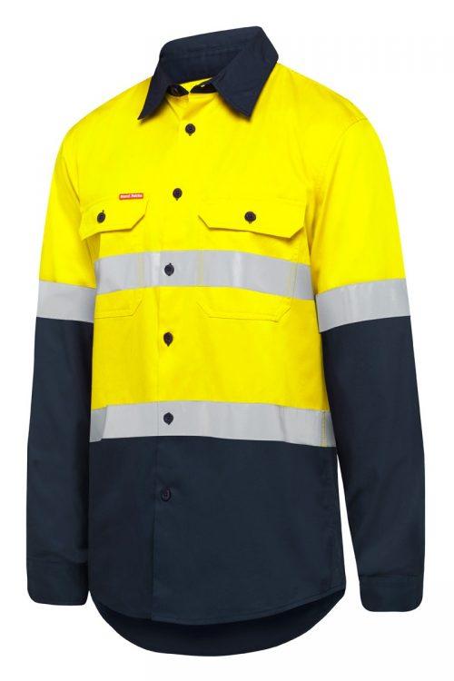 flouro yellow work shirt hard yakka