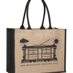 Supermarket Contrast Luxury Jute Bag