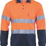 DNC Hi-Vis D/N Cool Breathe L/S Polo With 3M 8906 R/Tape