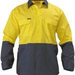 Bisley 2 Tone Cool Lightweight Drill L/S Shirt