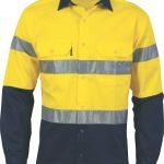 DNC Hi-Vis Cool-Breeze Cotton L/S Shirt with CSR R/Tape