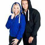Brushed Heavy Fleece Zip Hoodies; Mens-Ladies-Kids