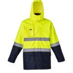 Mens Hi Vis Basic 4 in 1 Waterproof Jacket