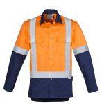 Syzmik Hi Vis Spliced Industrial Shirt Shoulder Taped
