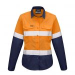 Syzmik Womens Rugged Cooling Taped Hi Vis Spliced Shirt